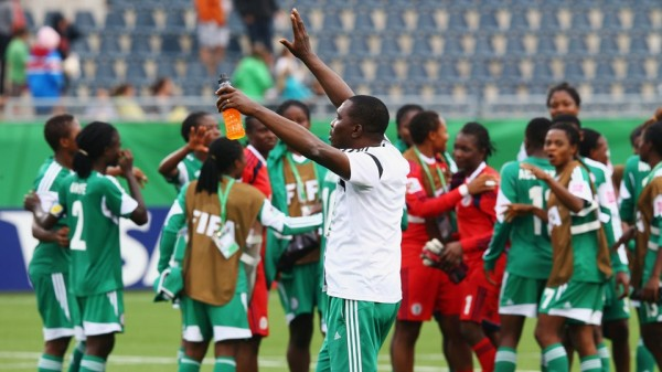 Peter Dedevbo Led the Super Falconets to a Second-Place Finish at the 2014 Fifa Women's World Cup. Image: Getty.