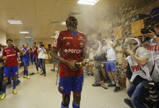 Ahmed Musa Scored 7 Goals in 26 Appearances as CSKA Won the 2013/14 Russian Championship. Image: Maxim Shemetov/Reuters.