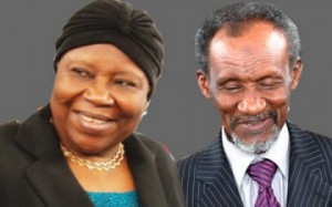 OUTGOING CJN, ALOMA MUKHTAR (L) AND JUSTICE MAHMUD MOHAMMED