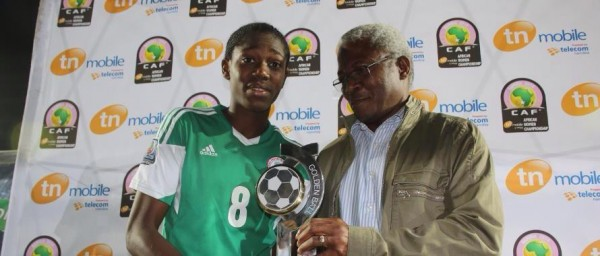 Asisat Oshoala Was  Named MVP at the Fifa U-20 World Cup and the AWC.