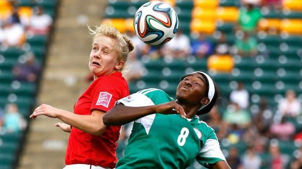 Courtney Dike and Sherry McCue of England During a Group Phase Clash at the Fifa U-20 World Cup. Image: Getty.