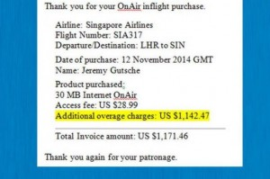 Man Charged $1,200 for Accessing His Email on A Plane