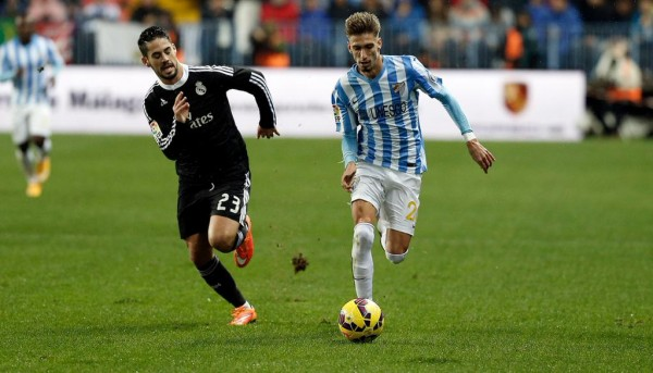 Isco in Action at the La Rosaleda on His Return to Malaga. Image: Getty.