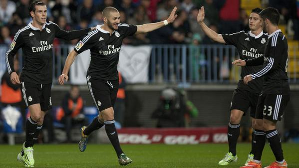 6- Most of Karim Benzema's Goals Have Come Against Malaga. Image: Getty.
