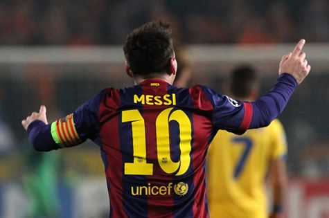 Lionel Messi Scored His Career 74th Champions League Goal Against APOEL on Tuesday to Become the All-Time Record Goal-Scorer in the Uefa Champions League. Image: AFP/Getty.