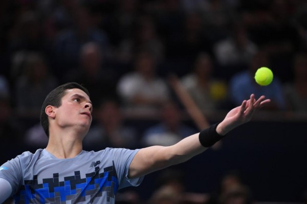 Milos Raonic Will Face Either Top Seed Novak Djokovic or US Open Finalist Kei Nishikori in Sunday's Final. Image: Getty.