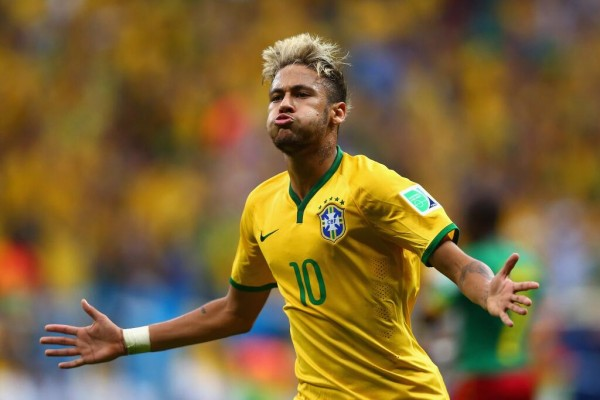 Neymar Celebrates Scoring Against Cameroon at the 2014 World Cup. The Barca Star is Expected in Uyo Next Year. Image: Getty.
