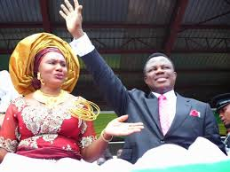 Governor Willie Obiano and his wife, Chief Ebere Obiano