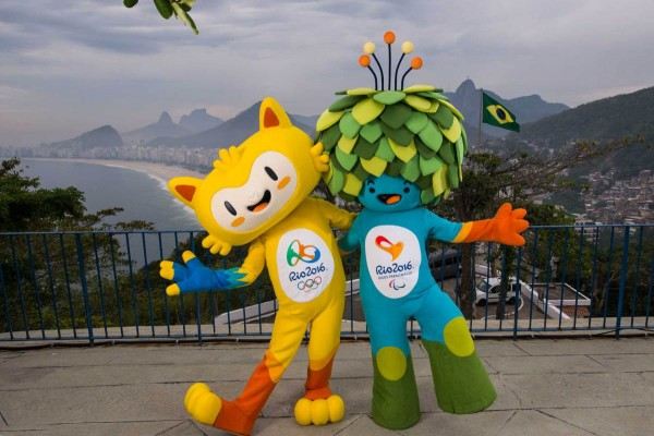 Unnamed Mascots of the Rio 2016 Olympic (Yellow) and Paralympic (Blue) Games Unveiled on Monday. Image: Reuters.