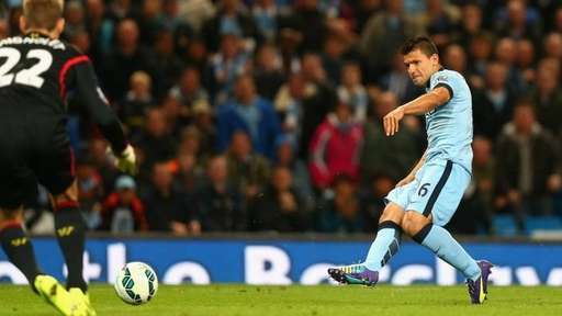 Sergio Aguero Will Be Fit to Face FC Bayern. Image: Getty.