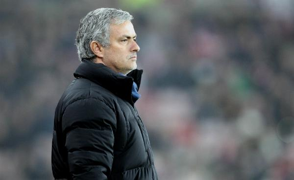 Chelsea Jose Mourinho Watches Patiently from the Touchline as Every Sunderland Defender Got Behind the Ball at the Stadium of Light. Image: Getty.