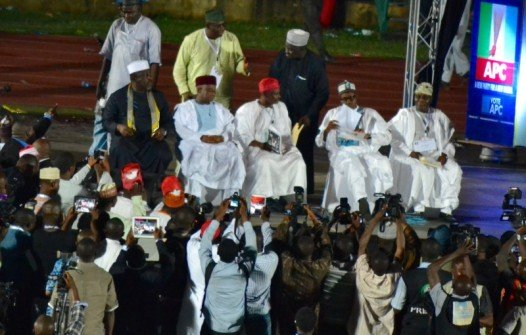 APC presidential aspirants at the party's national convention in Lagos credit: Premium Times