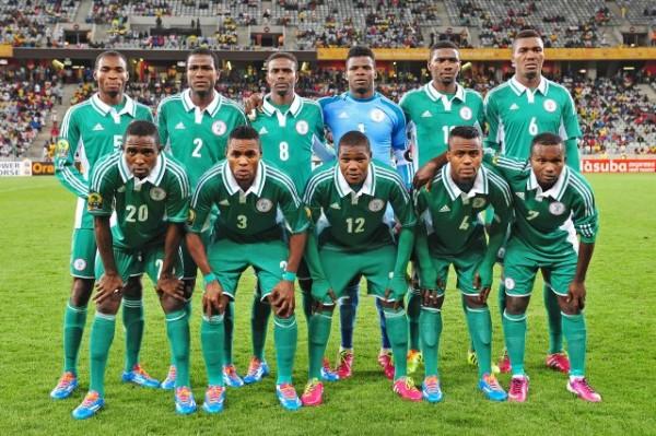 Ibrahim Abubakar (Shirt No. 12) Poses With CHAN Eagles for Group Photograph.