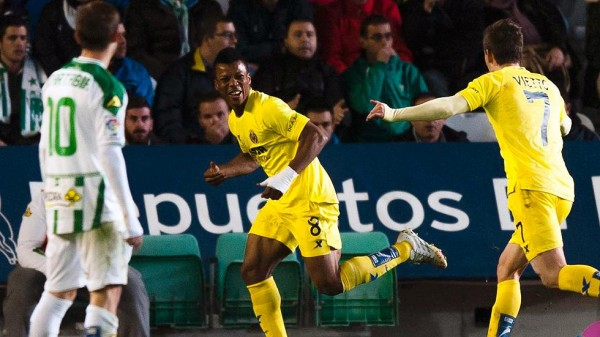 Ikechukwu Uche Celebrates his Goal Against Cordoba. Image: Getty.