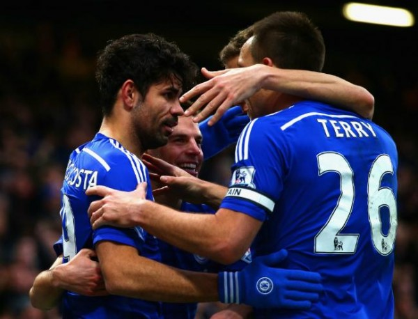 John Terry, Diego Costa and Co Celebrate at Stamford Bridge. Image: Getty.