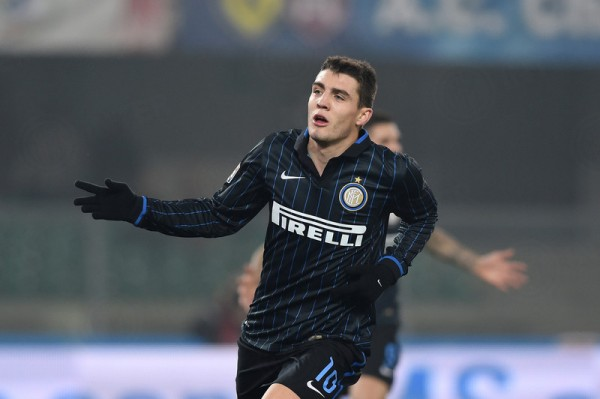 Mateo Kovacic Celebrates After Opening Scores for Inter Against Chievo. Image: AFP.