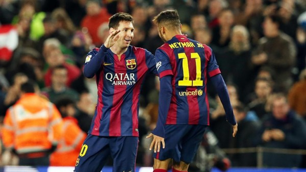 Lionel Messi and Neymar Celebrates Barca Goal at the Camp Nou. Image: Miguel Ruiz/ FC Barca.
