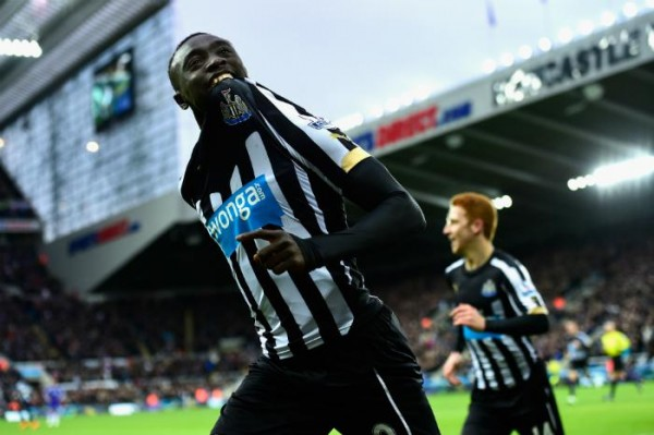 Papiss Cisse Celebrates His First Goal Against Chelsea on Saturday. Image: Getty.