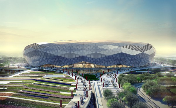 Entrance to the Qatar Foundation Stadium. Image: SCDL.
