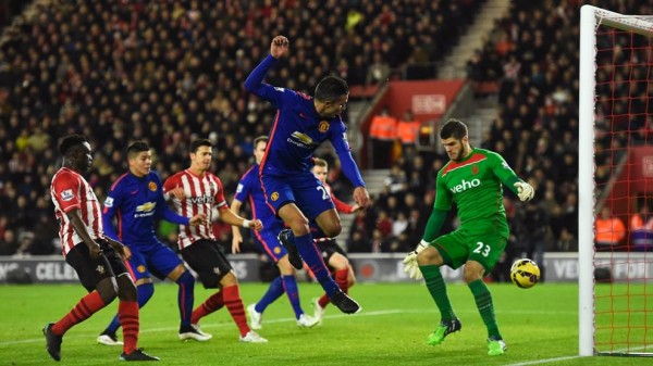 Robin van Persie Scores His 140th Premier League Goal Against Southampton. Image: Reuters.