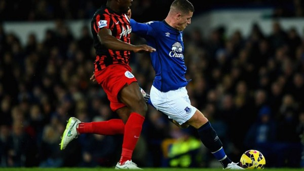 Ross Barkley Scores After a Surging Run from His Own Half Against QPR. Image: Getty.