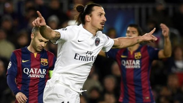 Ibrahimovic Celebrates His 47th Goal in European Competition. Image: AFP/Getty.