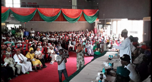 Jimi Agbaje at a Town Hall Meeting in Badagry recently