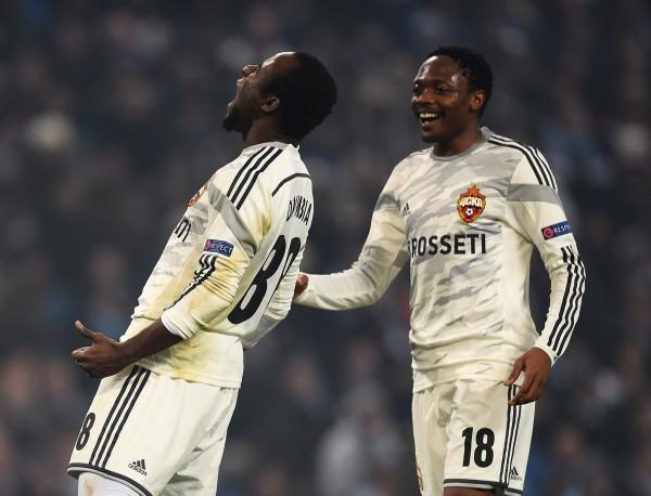 Seydou Doumbia Celebrates Scoring Match-Winner against Manchester City at the Etihad Stadium. Image: AFP/Getty.