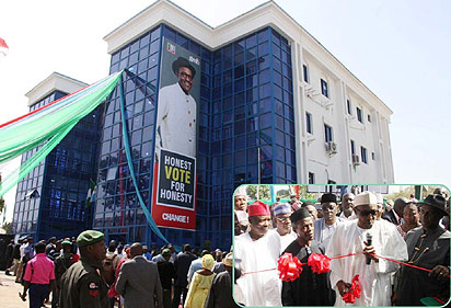 The General Buhari Presidential Campaign Organisation building soure: Vanguard