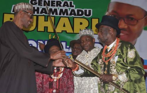 PRESIDENT MUHAMMADU BUHARI AND OGONI LEADERS LED BY HIS MAJESTY KING G. N. GININWA
