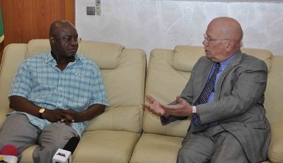 David Mark-Ambassador of the United state of America to Nigeria James Entwistle