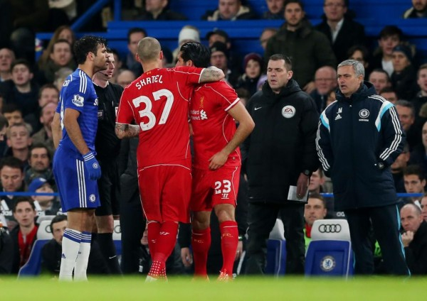 Diego Costa Charged By FA after Clashing With Emre Can in a League Cup Game. Image: Getty.