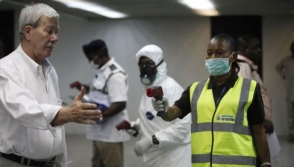 Ebola Screening by World Health Organisation Staff. Image: WHO.