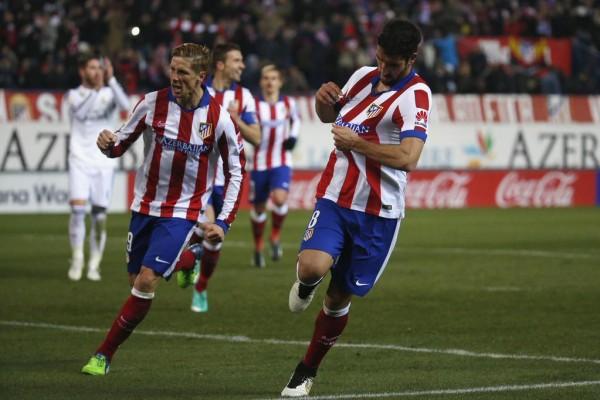 Jose Gimenez Celebrates Atletico Madrid Second at the Vicente Calderon. Image: AFP.