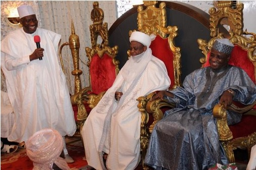 file photo: Jonathan pays courtesy visit to the Sultan