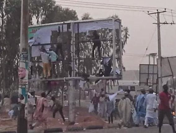 Jonathan's campaign billboard destroyed in Katsina