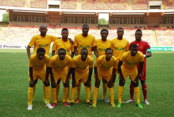Kano Pillars Players Pose for a Team Photograph at the Abuja National Stadium. Image: LMC.