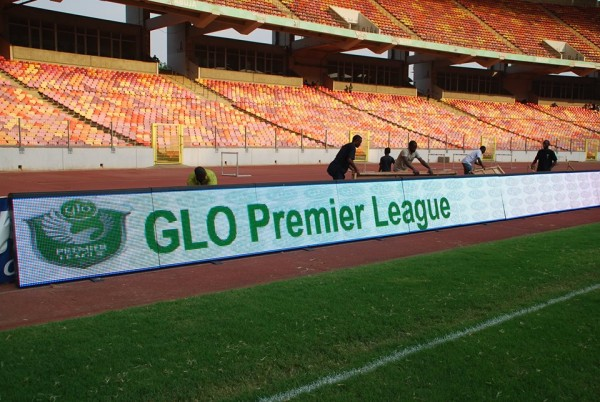 The Digital Advertisement Board Was First Used in Nigeria During the 2014 Super 4 Tournament at the Abuja National Stadium. Image: LMC.