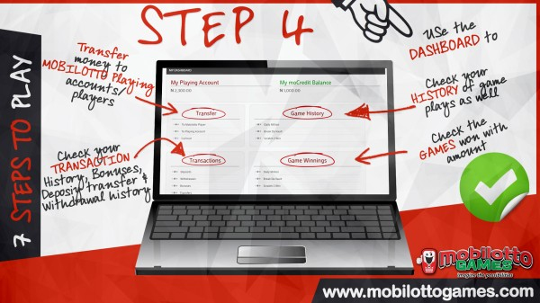 MOBILOTTO GAMES HOW TO Step 4