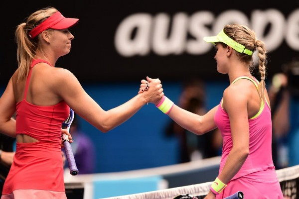 Maria Sharapova Beats Eugenie Bouchard to Reach Australian Open Semis. Image: Tennis Australia.