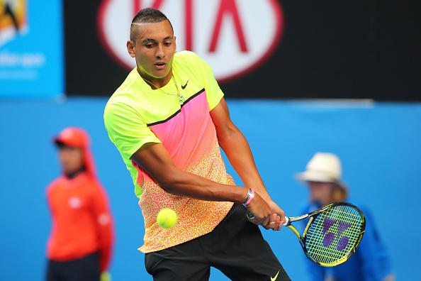 Kyrgios became  the 14th male teenager to reach multiple Grand Slam quarter-finals at this year's Australian Open and the first since Federer in 2001. Image: Tennis Australia.