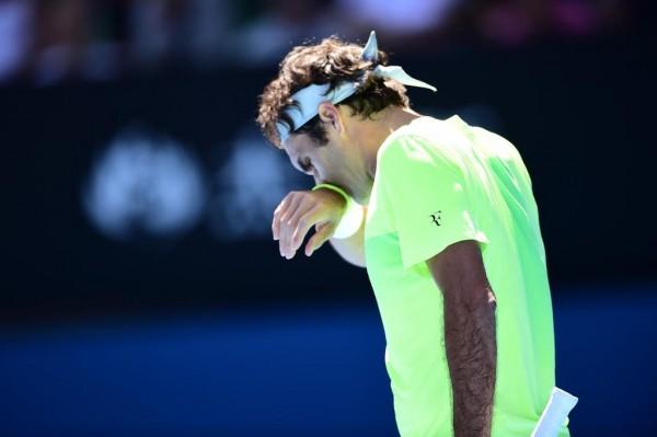 Roger Federer Knocked Out of Australian Open. Image: Tennis Australia via Getty.