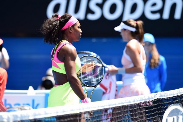 Serena Williams Revenge Her Loss to Garbine Muguruza at the 2014 French Open With Victory in Melbourne on Monday, 26, January 2015. Image: Tennis Australia.