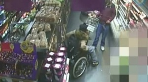 Shocking CCTV- Woman in wheelchair stands up to steal food (Generated thumbnail)