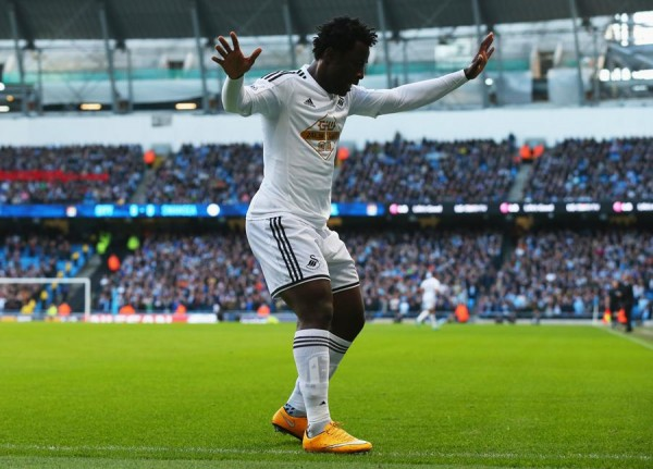 Wilfried Bony Set to Join Manchester City from Swansea. Image: Getty.