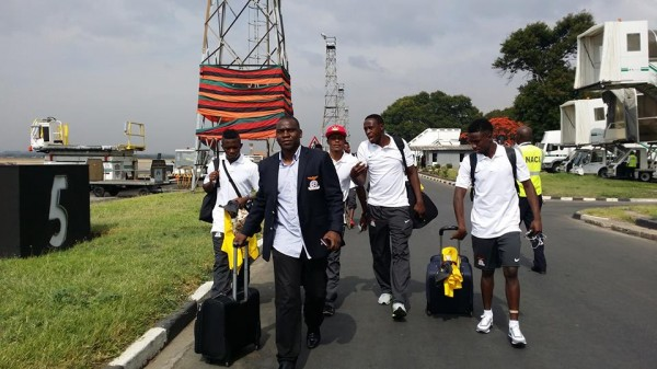 Zambian Players Exiting Their Country for Afcon 2015 Training Camp.