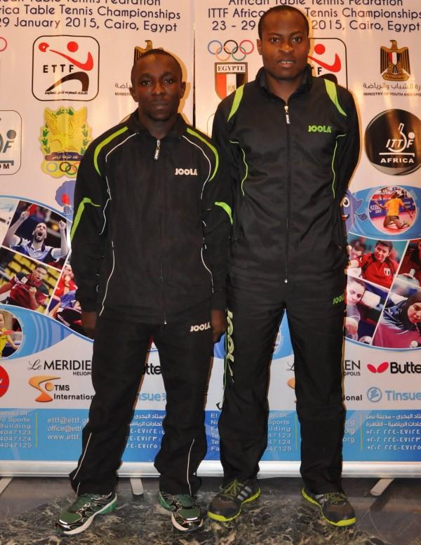 Aruna Quadri and Kazeem Makonjuola are Reigning ITTF Africa Doubles Champions. Image: ITTF.