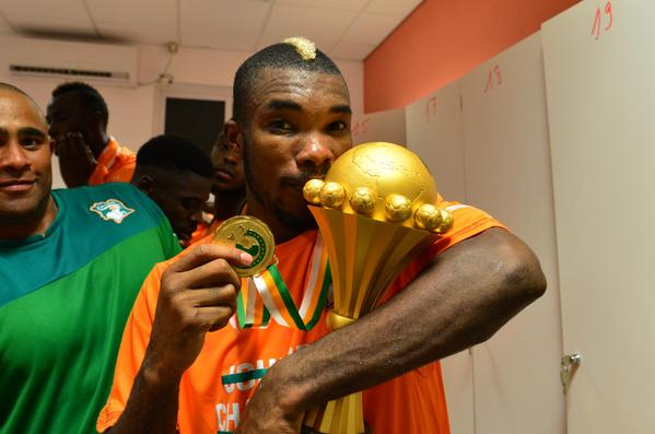 Serey Die Celebrates His First Afcon Winner's Medal Following Ivory Coast Triumph. Image: Getty.