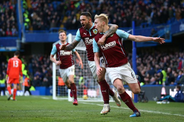 Ben Mee Rescued a Point for Ten-Man Chelsea at Turf Moor. Image: Getty.