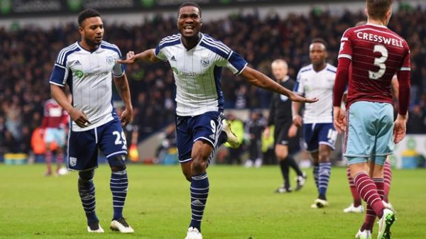 Brown Ideye Scored Seven Goals in 31 Appearances for West Brom. Image: Getty.